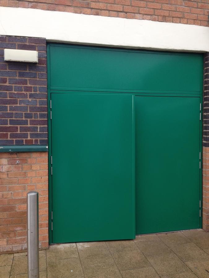 Fire Exit Door With Top Panel - Liverpool