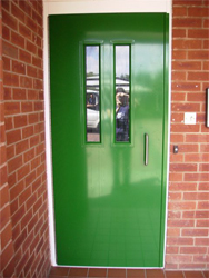 Communal Entrance Door Green